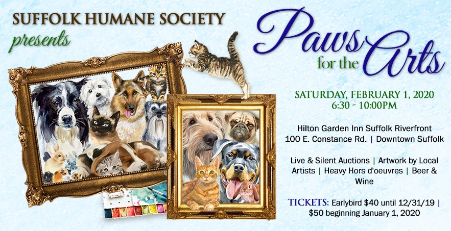 Suffolk Humane Society presents the 7th Annual Paws for the Arts